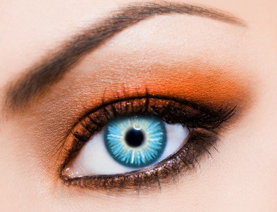 Eye-Effect-Farbige Kontaktlinsen blau Sky als Jahreslinsen ohne Stärke! Karneval/Halloween Kontaktlinsen+Linsenbehälter