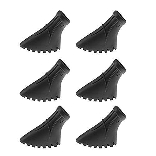 CRESTGOLF 6 Stück / 3 Paar Nordic Walking Pads für Asphalt Trekking Stock Gummifuß für Asphalt und Stein