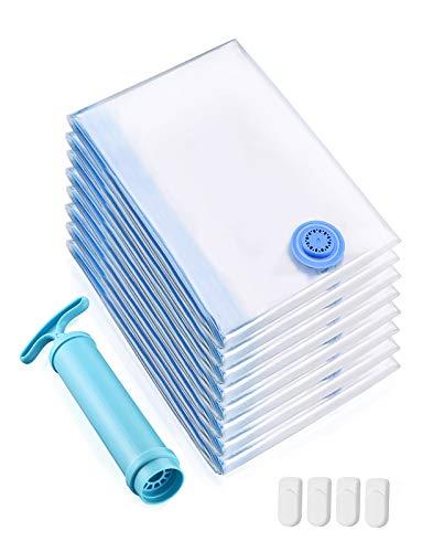 TOPELEK Vacuum Storage Bags Jumbo 8 Pack, Reusable Space...