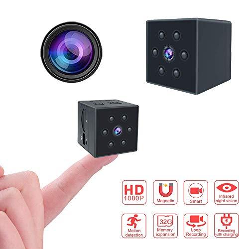 ASuii Mini-Spionagekamera, kabellos, Hidden Spy Kamera, tragbar, Miniatur-Kamera, 1080P HD, Nachtsicht, Bewegungserkennung innen/außen, Überwachungskamera/Babyphone/Sport DV (Pro), color1