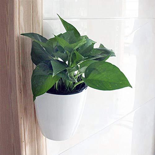JKXWX Kleine plastic hangende plantenpotten, Slimme bloempot, Planter Mand Binnen/buiten Hangende Bloempotten Planten Houder Patroon Ontwerp voor Home Decor
