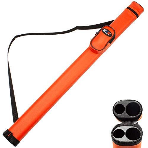 GSE Games & Sports Expert 1 x 1 Deluxe Hard Billard Pool Queue Tasche (mehrere Farben erhältlich), Orange