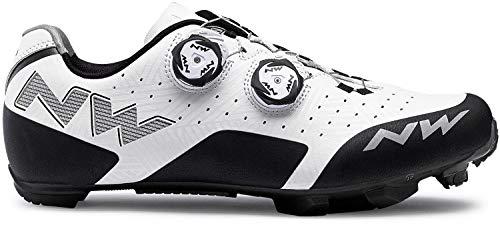 Northwave Rebel MTB Fahrrad Schuhe weiß/schwarz 2019: Größe: 46