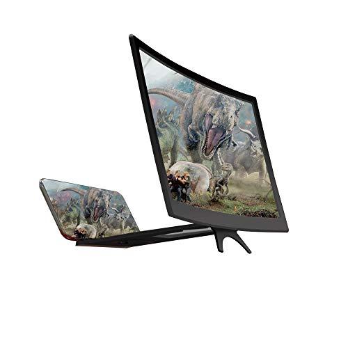 APO Mobile Siebverstärker 12 Zoll gekrümmter Bildschirm 3D HD multifunktionale Faule Halterung kreatives Zubehör für alle Smartphones