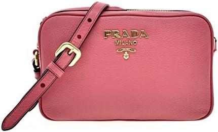 Prada Vitello Phenix Leather Peonia Pink Shoulder Camera Bag 1BH103 product image