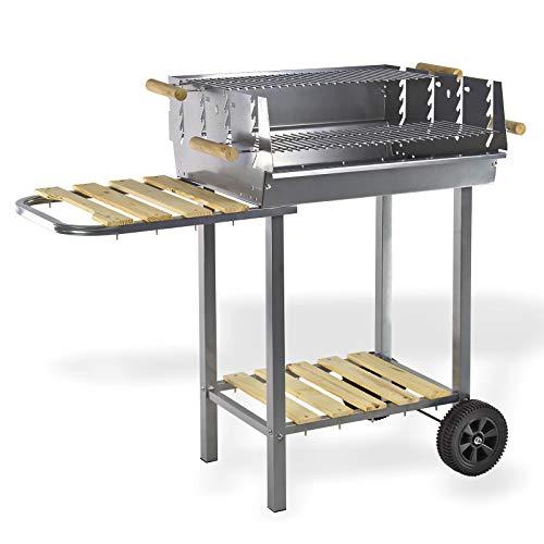 Grillwagen/Holzkohlegrill MONTANA II Gartengrill Barbecue-Grill