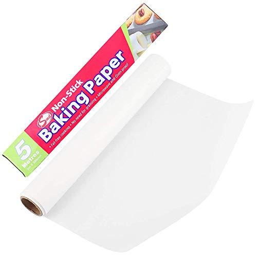 Limeow Antihaft BBQ Papier Antihaft Backblech Papier Backpapier Antihaftpapie Fettdichtes Antihaft Backpapier 30cmX20m für Gebäck Grills Öfen Grills Dampfgarern Antihaftpapier verwendet
