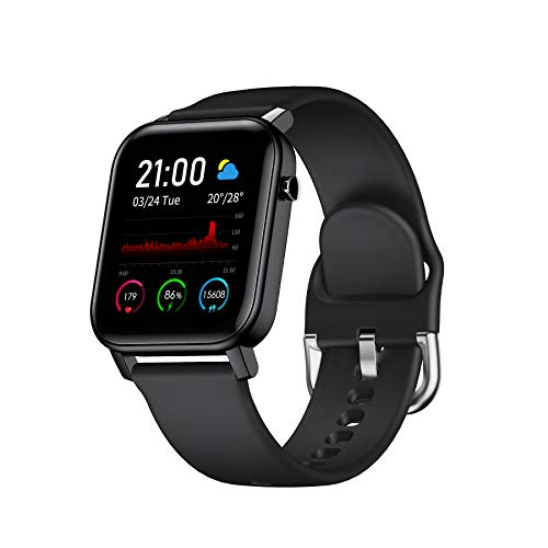Adurei Smartwatch 1.4'' Touch-Farbdisplay Bluetooth Armbanduhr Sportuhr Smart Watch für Damen Herren Kinder mit Herzfrequenz Schlaftracker IP68 Wasserdicht Schrittzähler Kompatibel mit Android IOS