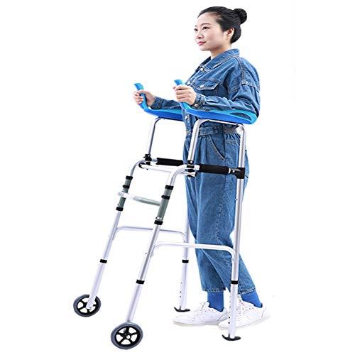 YXX-Andador Andadores para Ancianos Adultos Caminante Vertical Compacto Y Plegable Con Soporte Para Brazos Para Personas Mayores Y Adultos Altos, Andador Con Ruedas Delanteras Extra Anchas, Carga De 3