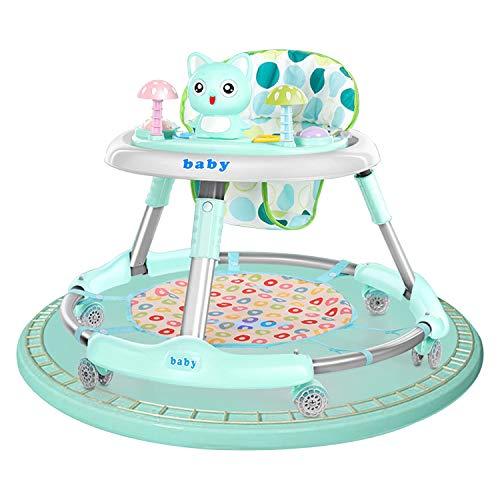 AJAMQ Andador para Bebé Primeros Pasos Andador Redondo Multifuncional Baby Go, Andador Plegable De Música para Niños Pequeños De Primer Paso con Bandeja De Alimentación