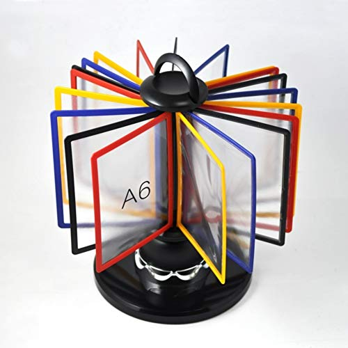 KELE Drehbar Flip Rack Datei Kochbuchständer, A6 Datei Frame 360 ° Daten Display-ständer...