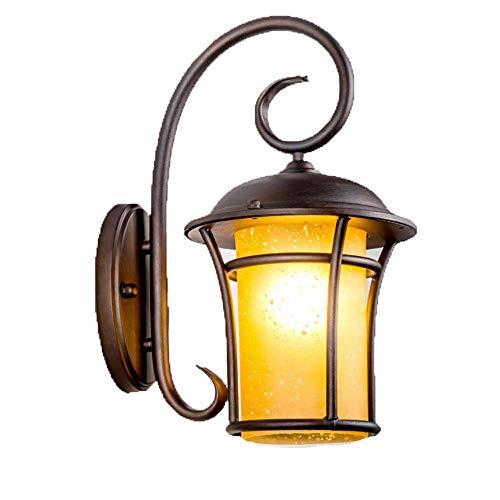 XUEYAN Americana moderna lámpara de pared creativa del accesorio Industrial Muebles Iluminación de cristal linterna lámpara de pared Negro Mate fácil de instalar exterior de metal ligero de la pared d