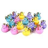 Blue Panda Juego de Patos de Goma (16 Piezas) - Tema Unicornio - Juguetes flotantes de...