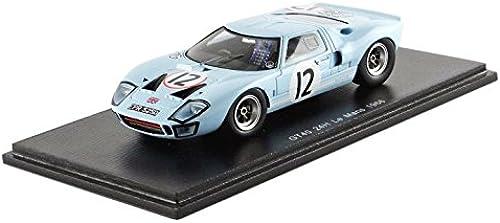 ventas en linea Spark S4072 S4072 S4072 Ford GT40 Le Mans 1966 Escala 1 43 azul  grandes precios de descuento