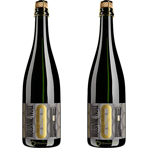 Kolonne Null - Prickelnd Cuvée Blanc No 01 - Schäumendes Getränk aus Alkoholfreiem Wein vom Weingut Freiherr von Gleichenstein - 2er Pack - 2x 750 ml