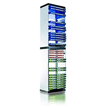 PS5 Game Storage Tower – Universal Games Storage Tower – Stores 36 Game or Blu-Ray Disks – Game Holder Rack for PS4 PS5 Xbox One Xbox Series X/S Nintendo Switch Games and Blu-Ray Disks