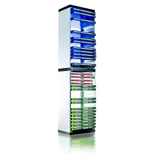 PS5 Game Storage Tower - Universal Games Storage Tower - Speichert 36 Spiel- oder Blu-Ray Disks - Game Holder Rack für PS4, PS5, Xbox One, Xbox Series X/S, Nintendo Switch Games und Blu-Ray Disks