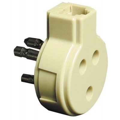 Adattatore Mini telefonico Spina-Presa tripolare con Presa Plug