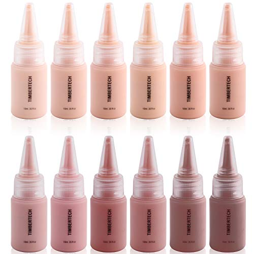 Timbertech S/B Airbrush Makeup Foundation with 12x10ml phial with all skin tones...