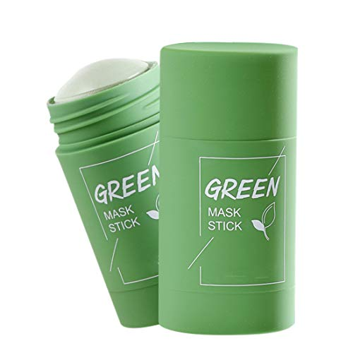 Green Tee Purifying Clay Stick Mask Green Tea Cleansing Mask Oil Control Anti-acne Aggplant Fine Solid Blackhead Deep Cleansing Maske For Pore Deep Cleaning Skin Care (Green tee X 1)