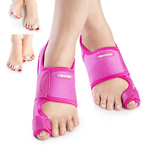 AVIDDA Bunion Corrector,Bunion Pain Relief Toe Separators Kit,Adjustable Size...
