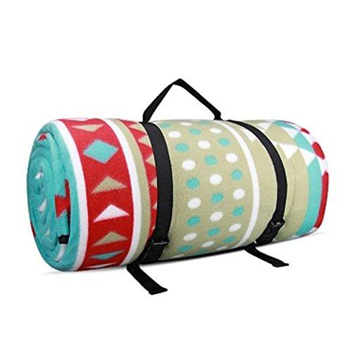 HMWPB Plein air Couvertures de Pique-Nique Imperméable Toison Extra-Large Camping Mat Portable Folding Tapis de Picnic pour Les Voyages Randonnée Plage -A 240x200cm(94x79inch)