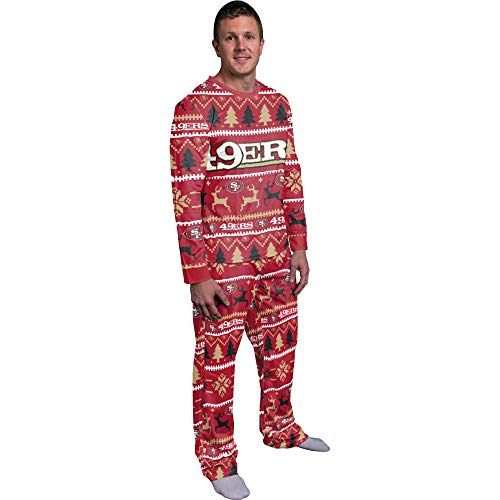 FOCO NFL Winter Xmas Pyjama Schlafanzug - San Francisco 49ers XL