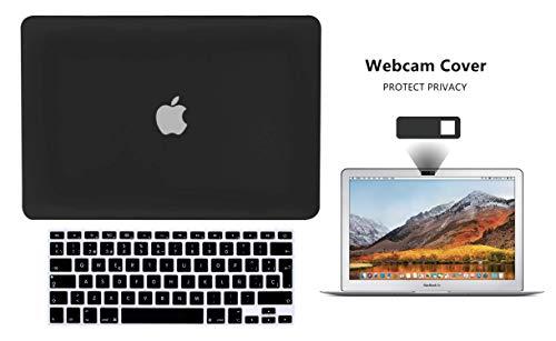 TECHNA Protector Carcasa Case para Macbook + Protector Skin Cover de Teclado en ESPAÑOL + Webcam Cover AntiSpy Macbook Air 13'' Model:...