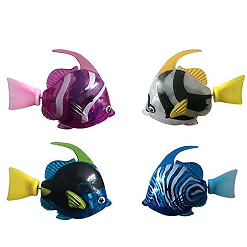 Robot Fish - 4 Pcs Juguete De Pez Robot De Natación Para Niños Robofish Electric Fish Natación Robot, Juguetes De Baño De Bebé Pez De Juguete Electronico, Pez Payaso Electronico (Color aleatorio) ⭐