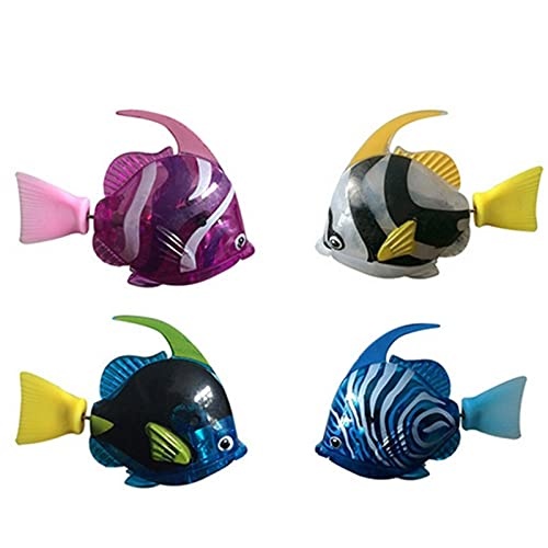 Jatour Pesce Giocattolo Elettronico, Robofish Gioco, Pesce Elettrico Nuoto Magico Robot, Bambini Bambino Bagno Giocattoli, Pesce Giocattolo Elettrici per Gatto(Batteria Incorporata)