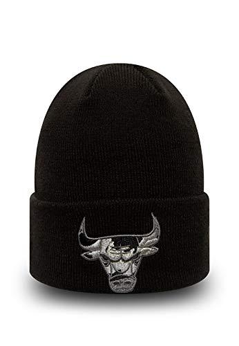 New Era Chicago Bulls - Gorro de punto para niño, Infantil, negro, niño: 3-4