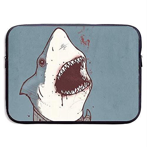 Shark Wearing Plaid Shirt 15-Zoll-Laptop-Hülle Tasche Tragbarer Reißverschluss Laptop-Tasche Tablet-Tasche