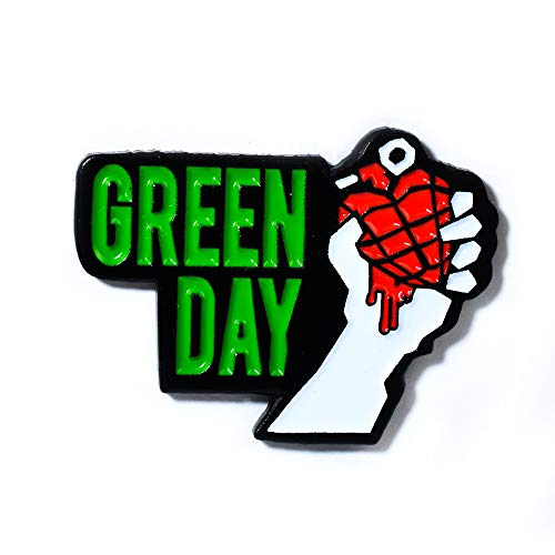 Green Day American Idiot Heart Grenade Collectible Pendant Lapel Hat Pin