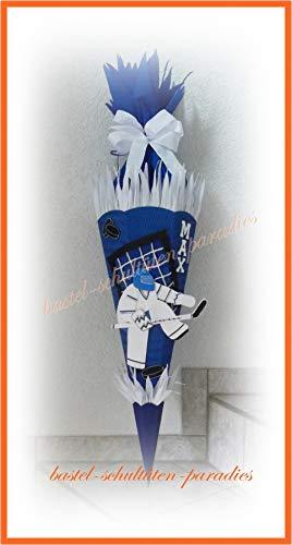 Schultüten Bastelset Eishockey-Torwart blau-weiß