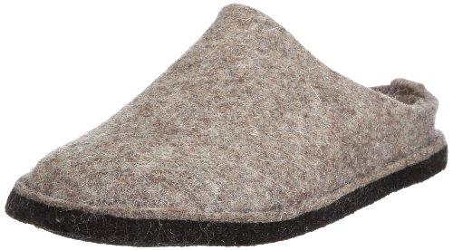 Haflinger Haflinger Flair Smily, Pantoffeln, Unisex-Erwachsene, Filz aus reiner Wolle, Beige (550 Torf), 42 EU