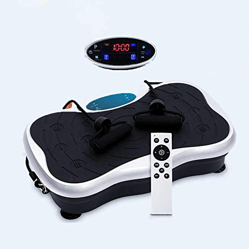 HyXia Vibrationsplatte LCD Display 99 Stufen mit Bluetooth Fernbedienung Belastbar Bis 150 kg Body Weight Loss Massager Vibrationstrainer