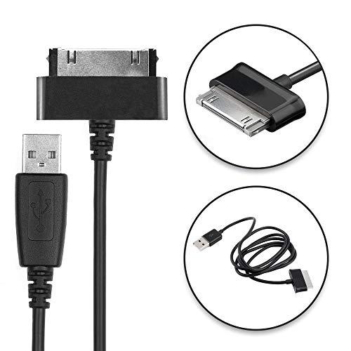 CELLONIC® Câble de données USB (1.0m) Compatible avec Samsung Galaxy Note 10.1 Tab 8.9 Tab 2 10.1 GT-N8000 GT-P3100 GT-P5100 (Connector (30 Pin) vers USB A (Standard USB)) Câble Data USB Noir