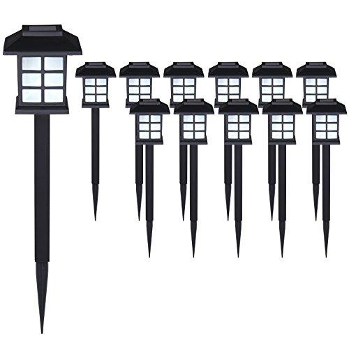 Deuba Set de 12x Lampes solaires LED Lumière pour Jardin Balcon terrasse