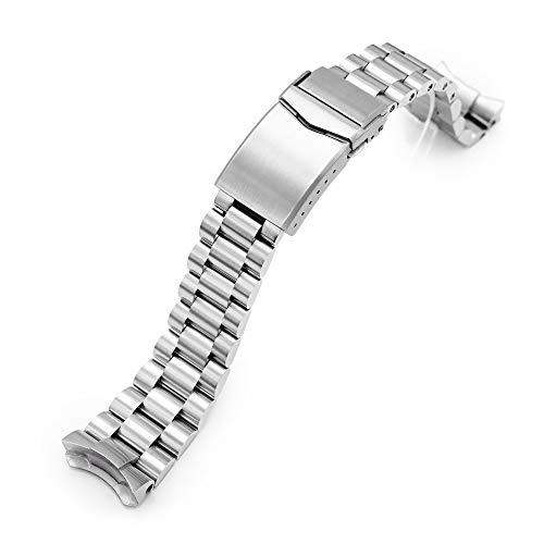 MiLTAT 22mm Schaftfräser Metall Uhrenarmband kompatibel mit Seiko 5 5kx srpd51 srpd71 srpe83