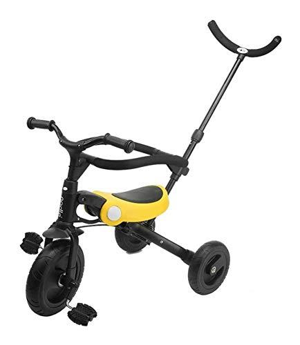 YANGYUAN Triciclo de niños del bebé del resbalón Artefacto de Tres-en-uno 1-3-6 Bicicletas Años de Edad Cochecito Plegable Cochecito (Color : C)