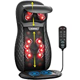RENPHO Shiatsu Back Massager for Chair, Massage Cushion with Heat, Chair Massager for Neck, Back, Shoulders, Height Adjustable Massage Seat, Gifts for Parents, Use at Home & Office