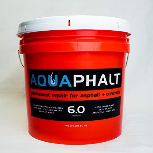 Aquaphalt 6.0 Permanent Asphalt Repair for potholes, driveways, and roads - Bucket