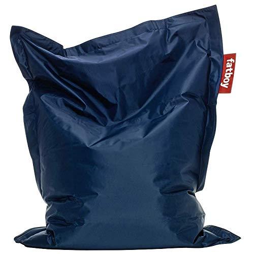 Fatboy® Junior blau | Original Nylon-Sitzsack | Klassisches Indoor Sitzkissen speziell für Kinder | 130 x 100 cm