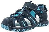 Apakowa Kid's Boy's Soft Sole Close Toe Sport Beach Sandals (Toddler/Little Kid) (Color : Blue, Size : 7 M US Toddler)