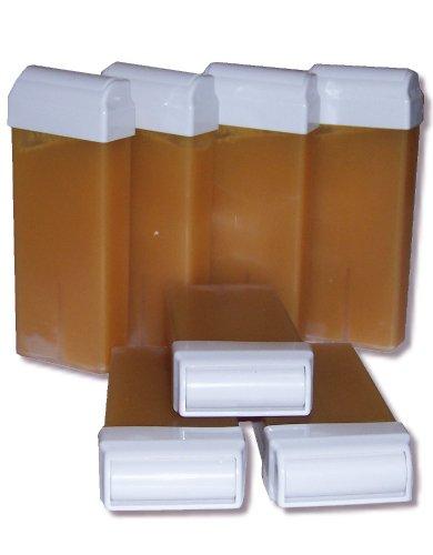 Storepil - 7 recharges 100 ml de cire à épiler jetable MIEL pour épilation avec bandes