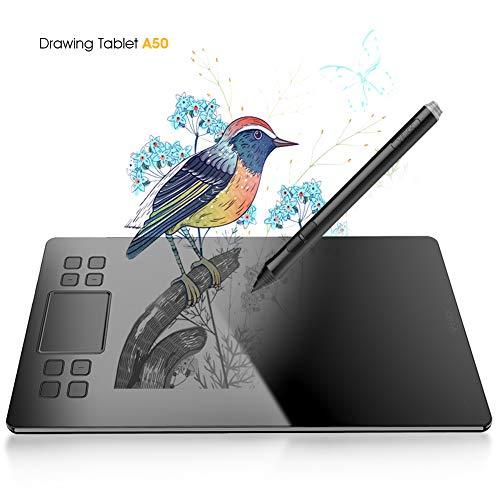 Zeichentablett veikk A50 Grafiktablett mit 8192 Stufen Passivstift Tablet