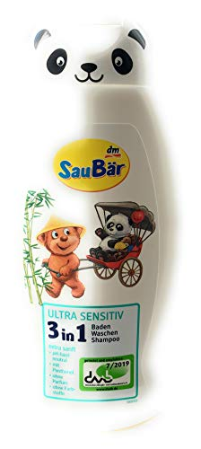 SauBär Ultra Sensitiv 3in1 Baden Waschen Shampoo, 300 ml