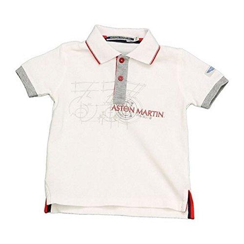 Aston Martin - Polo Manches Courtes Blanc - 6 Mois, Blanc