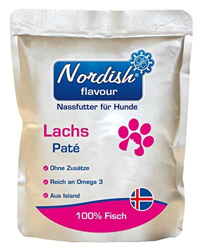 Nordish flavour Lachs Nassfutter für Hunde aus 100% isländischem Fisch | Getreidefrei, Zuckerfrei | Lachs 1x300g