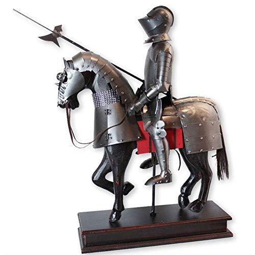 IUYJVR Desktop Knight Statue, Medieval French Knight in Armor Statue Figure Armour Knight Armor Gothic Statue